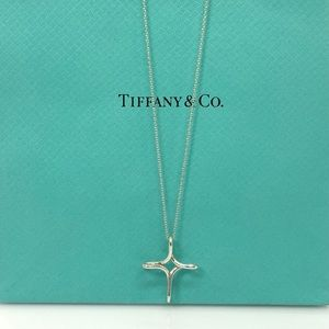 "Tiffany & Co. Infinity Cross Pendant Necklace 16"""
